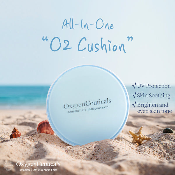 OxygenCeuticals O2 Cushion, Color Control Cushion Compact, 23, Medium Beige, For light medium skin with neutral tones, 15G2EA. kbeauty koreanbeauty cushionfoundation cosmetics cosmeceutical postcare best coverage