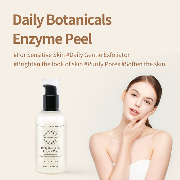 OxygenCeuticals Daily Botanicals Enzyme Peel |  Natural & Gentle Peeling Gel For All Skin Types | Korean gommage gentle peel off exfoliant