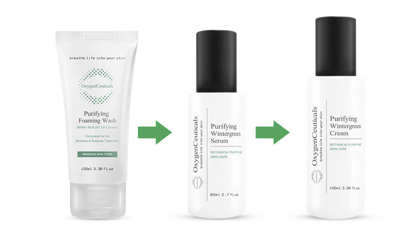 OxygenCeuticals Purifying Kit, 3 products, Cleanser + Serum + Cream