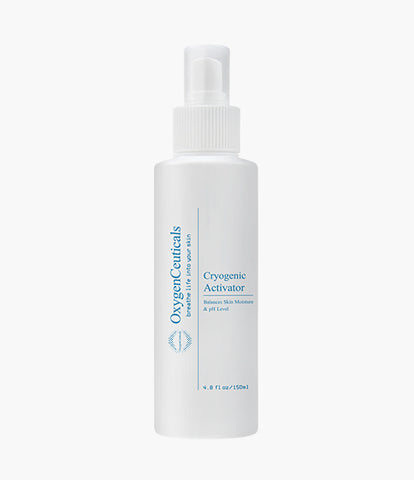 OxygenCeuticals Cryogenic Activator For Face, 150 ml/ 5 oz, Facial Mist, Face Toner, All Skin Types mineral water spray mist spray skin toner mist toner best skin toner mist