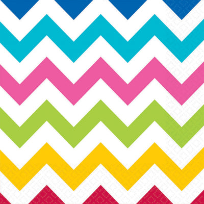 Rainbow Chevron Lunch Napkins