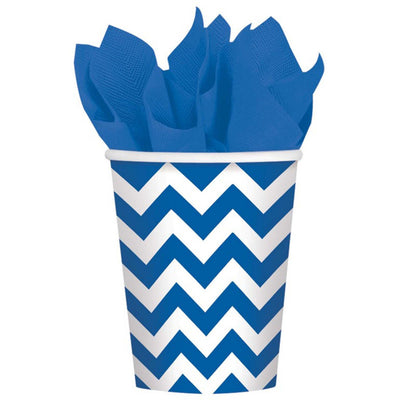 Bright Royal Blue Chevron Cups
