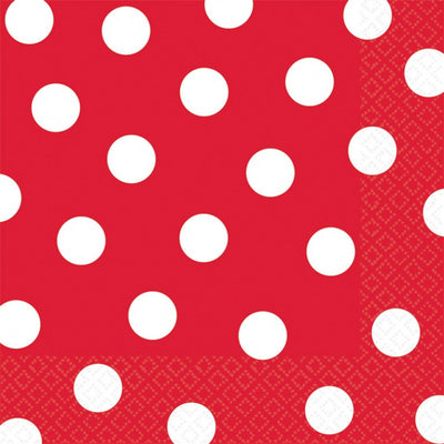 Apple Red Dots Lunch Napkins
