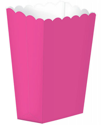 Bright Pink Popcorn Favour Treat Box