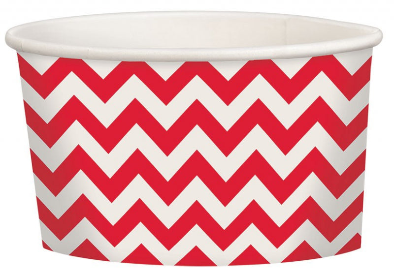Apple Red Chevron Treat Cup