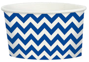 Bright Royal Blue Chevron Treat Cup