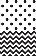 Black Chevron & Dots Table Cover