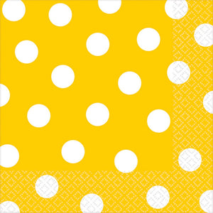 Yellow Dots Lunch Napkins