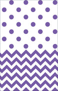 Purple Chevron & Dots Table Cover