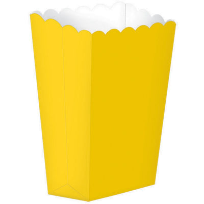 Yellow Popcorn Favour Treat Box