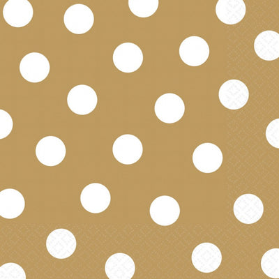 Gold Dots Lunch Napkins
