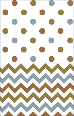 Mixed Metallic Chevron & Dots Table Cover