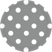Silver Dots Round Plate