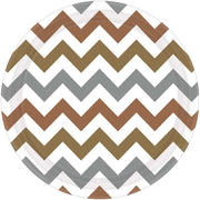 Mixed Metallic Chevron Round Plate