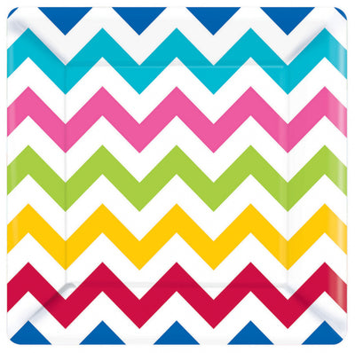 Rainbow Chevron Square Plate