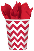 Apple Red Chevron Cups