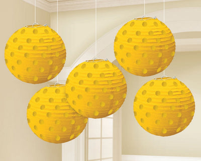 Yellow Sunshine Mini Paper Lanterns