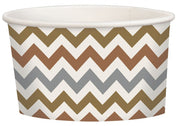 Mixed Metallic Chevron Treat Cup