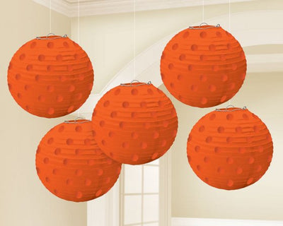 Orange Mini Paper Lanterns