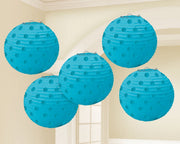 Carribean Blue Mini Paper Lanterns