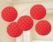 Apple Red Mini Paper Lanterns