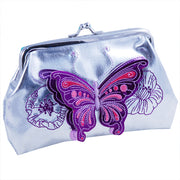 3D Butterfly Silver Coin Purse