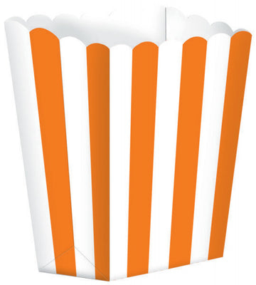 Orange Striped Popcorn Favour Treat Box