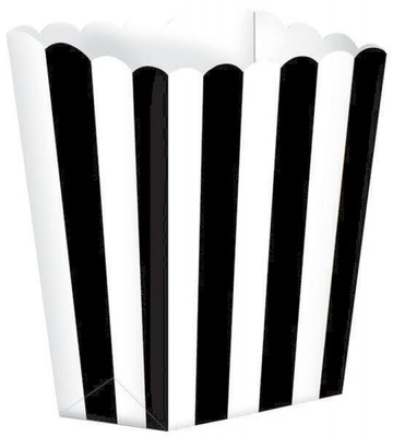 Black Striped Popcorn Favour Treat Box