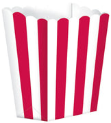Apple Red Striped Popcorn Favour Treat Box