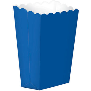 Bright Royal Blue Popcorn Favour Treat Box