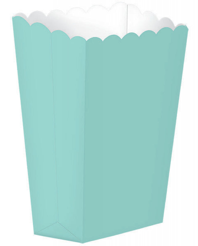 Aqua Popcorn Favour Treat Box