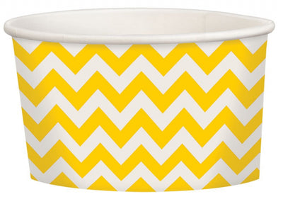 Yellow Chevron Treat Cup
