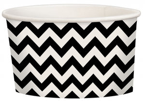 Black Chevron Treat Cup