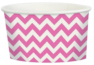 Bright Pink Chevron Treat Cup