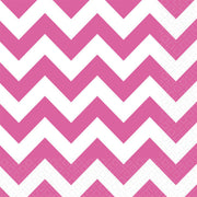 Bright Pink Chevron Lunch Napkins