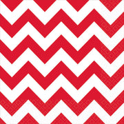 Apple Red Chevron Lunch Napkins