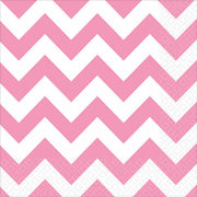 Pink Chevron Lunch Napkins