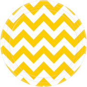 Yellow Chevron Round Plate