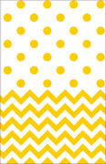 Yellow Chevron & Dots Table Cover
