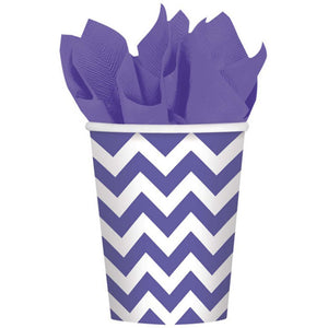 Purple Chevron Cups