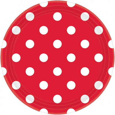 Apple Red Dots Round Plate