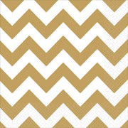 Gold Chevron Lunch Napkins