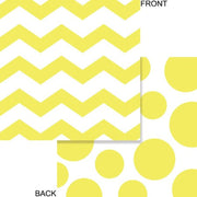 Yellow Chevron & Dots Beverage Napkins