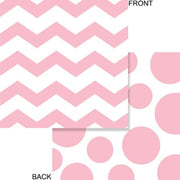 Pink Chevron & Dots Beverage Napkins
