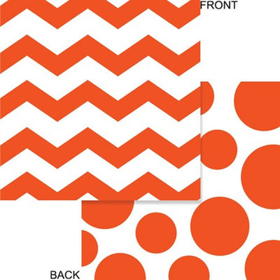 Orange Chevron & Dots Beverage Napkins