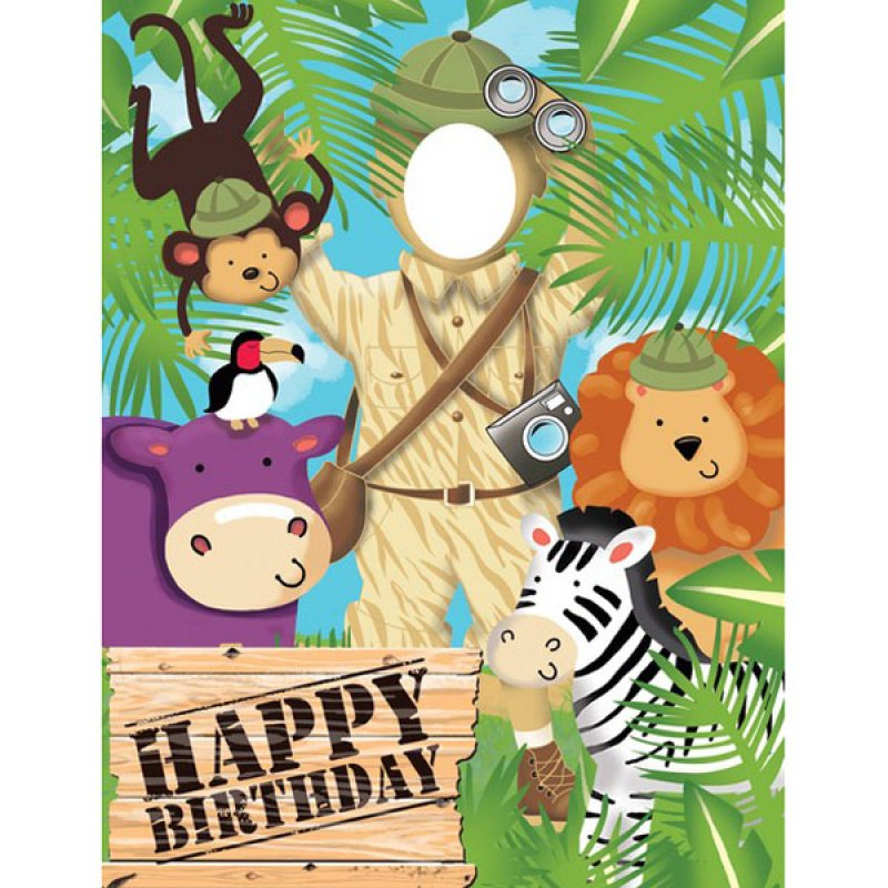 Jungle Safari Adventure Photo Op Banner