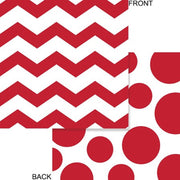 Apple Red Chevron & Dots Beverage Napkins