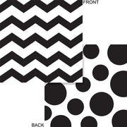 Black Chevron & Dots Beverage Napkins