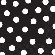 Black Dots Lunch Napkins