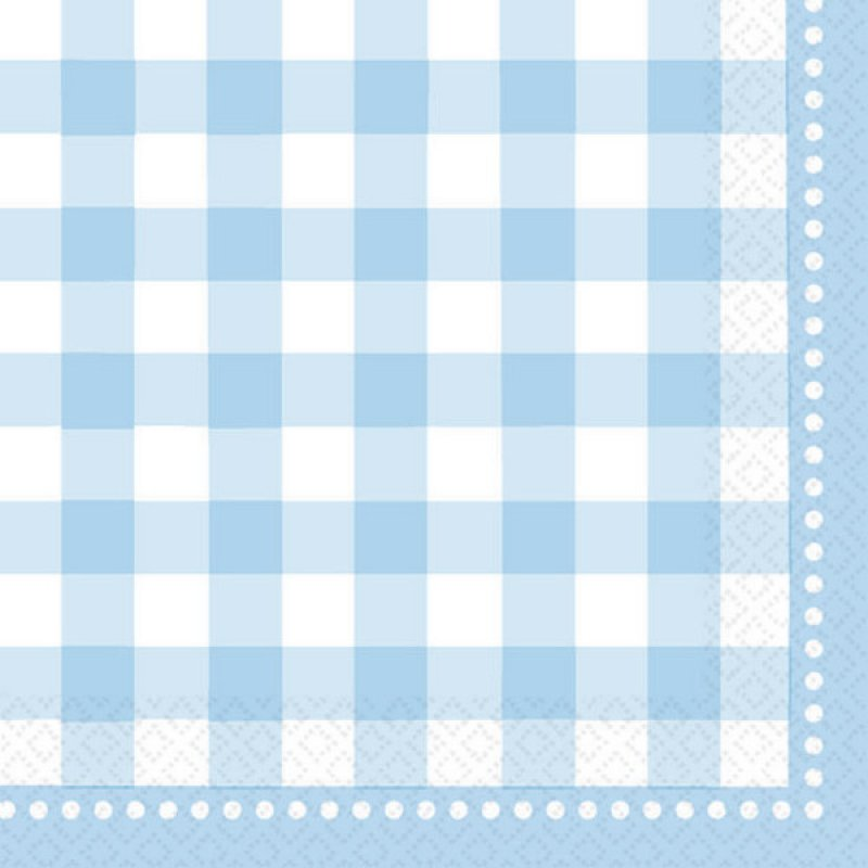 Gingham Baby Blue Napkins